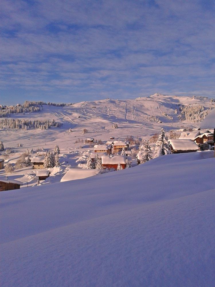 Le domaine skiable des Saisies secteur Bisanne
