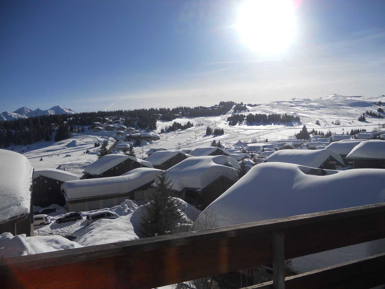 Appartement avec vue plein sud sur Mont Bisanne