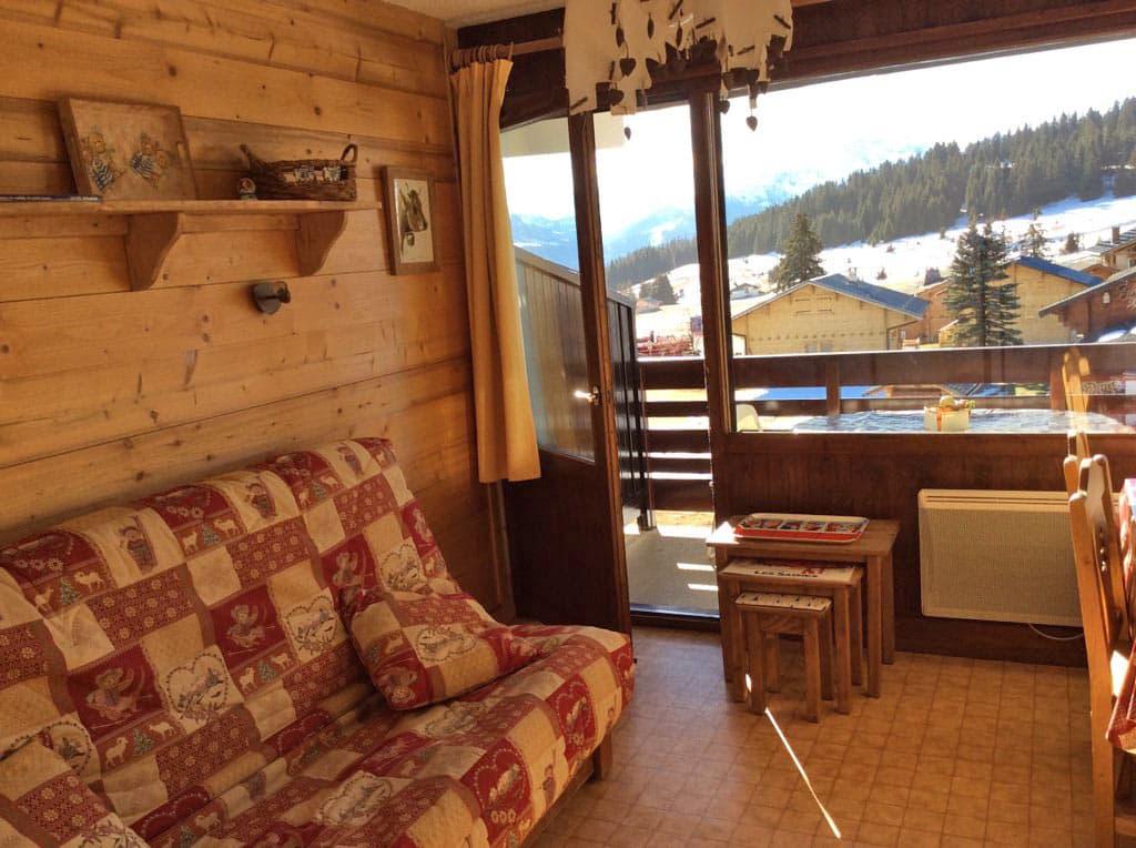 Achat studio cabine avec vue sur le Beaufortain et pistes de ski des Saisies