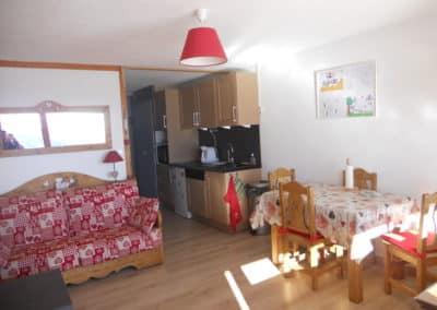 Aux Saisies, appartement 2 pièces avec une vue imprenable!